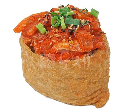 제육김치유부초밥