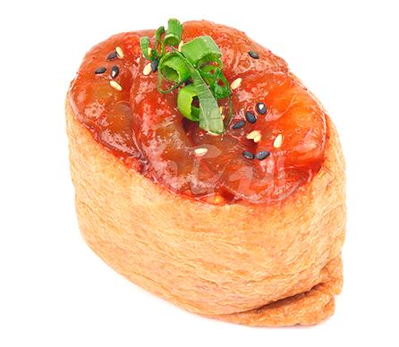 양념새우 유부초밥