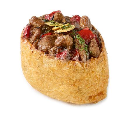 흑마늘포크 유부초밥